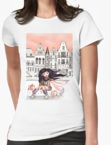 Viola is enjoying her shopping... Womens Fitted T-Shirt