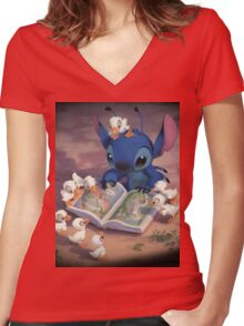 Ugly Duckling Women's Fitted V-Neck T-Shirt
