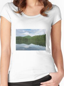 Water, Trees & Sky Women's Fitted Scoop T-Shirt