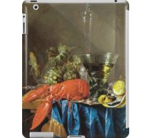 Cornelis De Heem  - Still Life With Lobster 1655  iPad Case/Skin