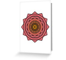 Sunny Kaleidoscope in Pink and Yellow Greeting Card