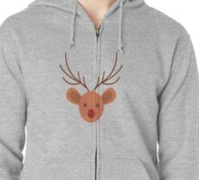 stag Zipped Hoodie