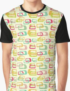 retro colorful abstract pattern Graphic T-Shirt