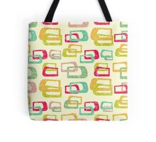 retro colorful abstract pattern Tote Bag