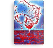 Spilled Wine Metal Print