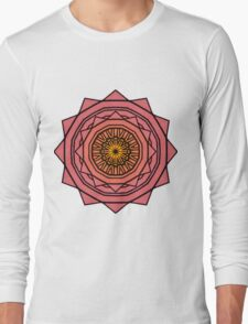 Sunny Kaleidoscope in Pink and Yellow Long Sleeve T-Shirt