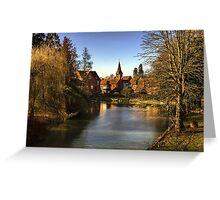 Whitchurch on Thames Mill and Church  Greeting Card
