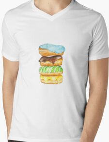 Stack Of Donuts Mens V-Neck T-Shirt