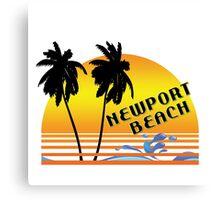 NEWPORT BEACH CALIFORNIA SUNSET WAVES SURF SURFING Canvas Print