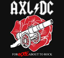 "Axl/DC ""For Rose About To Rock"" (Black) Unisex T-Shirt"