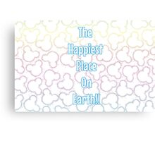 Happiest Place on Earth! Canvas Print