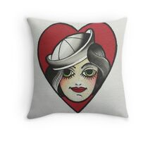 Sailor babe Throw Pillow