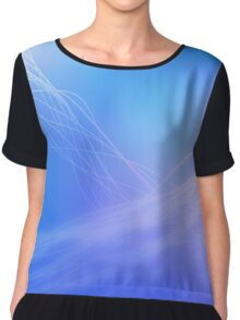 Flows of energy on a blue to pink background Chiffon Top