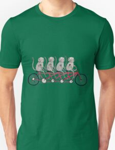 Tandem Bicycle Cat Gang Unisex T-Shirt