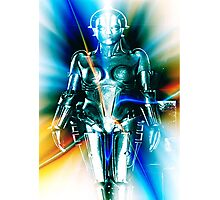 Star Light Robot Photographic Print