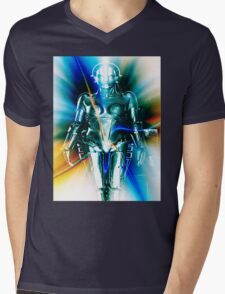 Star Light Robot Mens V-Neck T-Shirt
