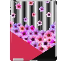 Flowers and Stripes iPad Case/Skin