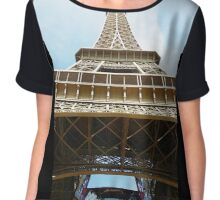 Eiffel Tower Chiffon Top