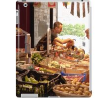 Shopping for Vegetables at the Covered Market in Vannes France iPad Case/Skin