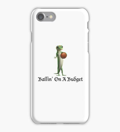 Geico Gecko Ballin' On A Budget iPhone Case/Skin