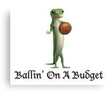 Geico Gecko Ballin' On A Budget Canvas Print
