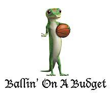 Geico Gecko Ballin' On A Budget Photographic Print