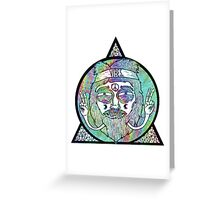 Trippy Psychedelic Hippie Design Greeting Card
