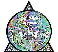 Trippy Psychedelic Hippie Design Photographic Print
