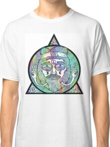 Trippy Psychedelic Hippie Design Classic T-Shirt