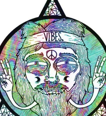 Trippy Psychedelic Hippie Design Sticker