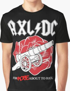 "Axl/DC ""For Rose About To Rock"" (Black) Graphic T-Shirt"