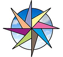Colourful Compass Photographic Print