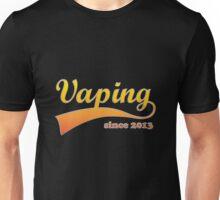 Vape Design Swoosh Vaping Since 2013 Unisex T-Shirt