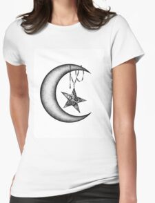 Moon Zen Womens Fitted T-Shirt