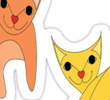 Jumpy Cats Sticker