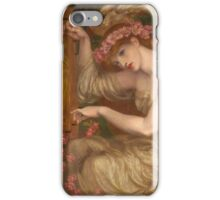 Dante Gabriel Rossetti - A Sea-Spell , Portrait Of A Woman iPhone Case/Skin