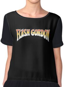 Flash Gordon Original Movie Poster Logo Chiffon Top