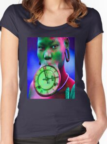 The illusion of Time Women's Fitted Scoop T-Shirt