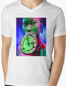The illusion of Time Mens V-Neck T-Shirt