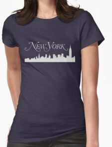The Skyline of New York City Womens Fitted T-Shirt