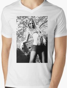 Tights and Bikini Top Mens V-Neck T-Shirt