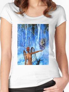 Surreal World Women's Fitted Scoop T-Shirt