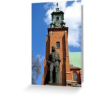 Statue of Boleslaw I the Brave outside the Gniezno Cathedral Poland Greeting Card