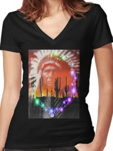 Ghost Dance Women's Fitted V-Neck T-Shirt