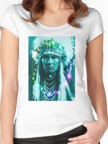 Magical Indian Chief Women's Fitted Scoop T-Shirt