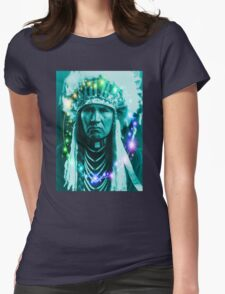 Magical Indian Chief Womens Fitted T-Shirt