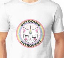 Outgoing Introvert Unicorn Cat Unisex T-Shirt