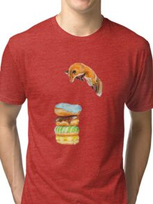 Donut Foxhole (Transparent Background) Tri-blend T-Shirt