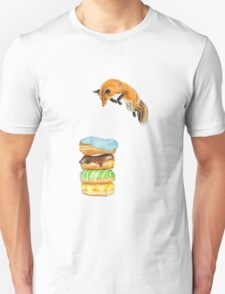 Donut Foxhole (Transparent Background) Unisex T-Shirt