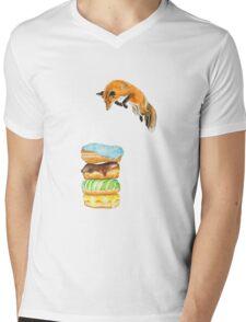Donut Foxhole (Transparent Background) Mens V-Neck T-Shirt